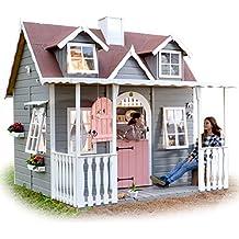 Green House Casita de Madera para Niños con Porche Cubierto Baden