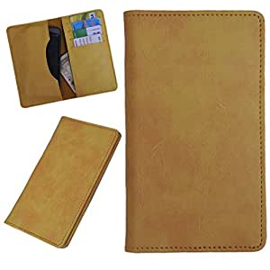 DCR Pu Leather case cover for Karbonn A27+ (yellow)