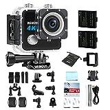 Action Cam, WiMiUS L1 4K Action Sport Camera HD 20MP WIFI, Fotocamera Subacquea Impermeabile 170° Grandangolare + 2 Batterie e Kit Accessori (Nero) - WIMIUS - amazon.it