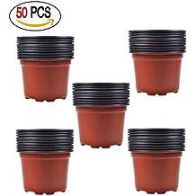 Zhichengbosi 8,9cm 50pezzi di plastica vaso di fiori o piante piantine nursery/vasi, 9 mc