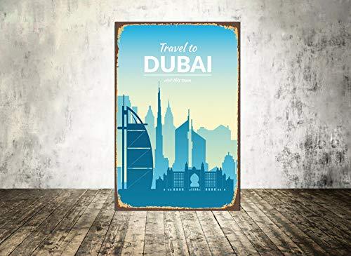 Schild, Dubai Metall Print, Reisen, Home Decor, Home Decor, Metall Schild, 20,3x 30,5cm
