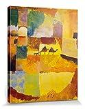 1art1 60508 Paul Klee - Zwei Kamele Und Ein Esel, 1919 Poster Leinwandbild Auf Keilrahmen 50 x 40 cm