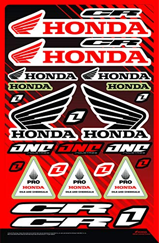KIT STICKERS FOX CR ADESIVI SPONSOR MOTO COMPATIBILE PER HONDA YAMAHA KTM CROSS ENDURO CASCO (32)