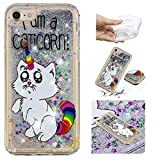 Yobby Glitter Liquide Coque pour iPhone 7,Coque iPhone 8,Bling Flottant Mignon Mince...