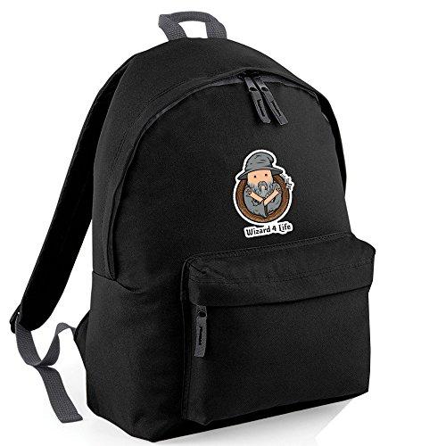 Inspired Wizard per vita, Gryffindor Embroidery-Zainetto backpack BAGS nero Taglia unica