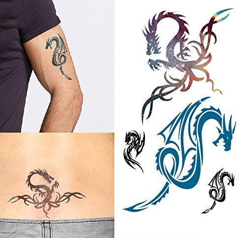arte-corporal-pegatinas-tatuaje-removibles-temporales-dragon-pegatina-tatuaje-modavida-fashionlife