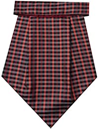 Navaksha Maroon Geometrical Micro Fiber Cravat