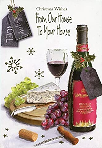 Christmas Wishes From Our House To Your House - Wine