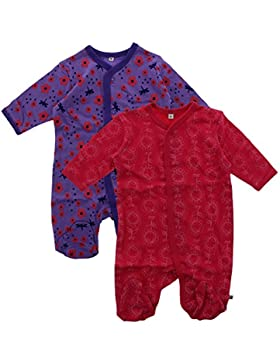 Pippi Baby - Mädchen Schlafstrampler Nightsuit W/f -Buttons (2-pack)