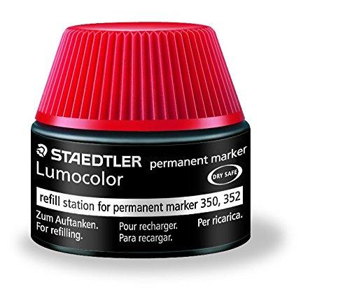 Preisvergleich Produktbild Staedtler 488 50 Lumocolor permanent marker Nachfüllstation für 350/352, 15-20x Nachfüllen, rot