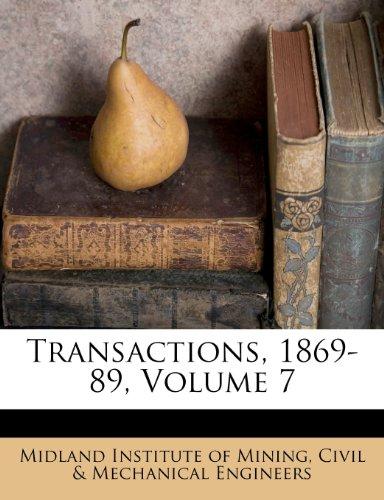 Transactions, 1869-89, Volume 7