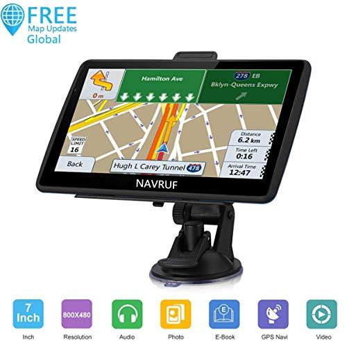 Navigatore Satellitare Navruf 7 Pollici GPS Per Auto include Codici Postali, Ricerca POI, Avvisi Autovelox, Mappe EU Precaricate e Aggiornamento Mappe Gratuito a Vita