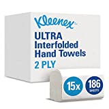 KLEENEX* ULTRA Interfolded Hand Towels 6789 - 15 packs x 186 white, 2 ply sheets
