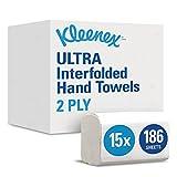 Kleenex 6789 - Juego de 15 paquetes x 186 toallas de papel plegadas, 2...