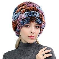 Sombrero-otoño Invierno Sombrero de Punto Sombrero de Bola de Pelo de Estudiante Gorro Doble Grueso cálido Salvaje de Punto (Selección (Color : 01)