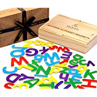 Jaques of London - Magnetic Alphabet Letters - Wooden Fridge Magnets for Kids - They are Perfect Montessori Educational Toys - Wooden Toys for Kids since 1795