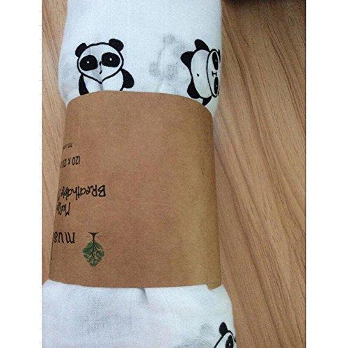 Preisvergleich Produktbild Highdas weiche Bio-Baumwolle Musselin Swaddle Badetuch Multi-Use-Decke Infant Neugeborenes Baby-Verpackung (Panda)