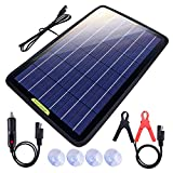 Eco-Worthy Chargeur de batterie solaire portable 12 V 10 W pour voiture et bateau avec adaptateur pince crocodile