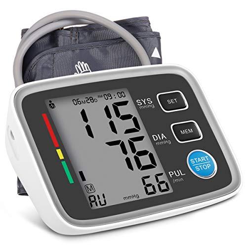 Blutdruckmessgerät Oberarm Digitale Blutdruck Messgeräte AlphagoMed Powered by Hizek Blutdruckmessung mit Arrhythmie Erkennung, Standard Manschette, Großbild Display für 2 Nutzer Speicher
