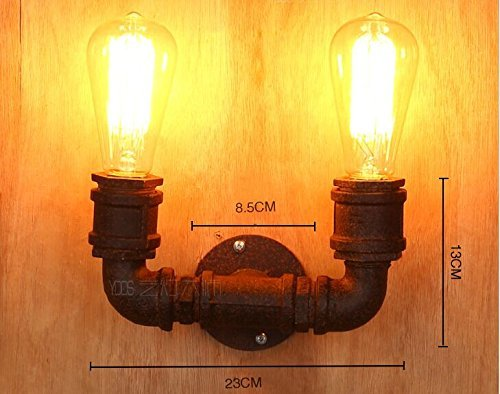 Lightess lampada da parete vintage industriale steampunk forma tubo