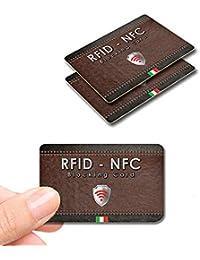 2 pezzi Protezione Anti RFID per Carte di Credito Contactless – Blocco RFID & NFC - RFID Blocking Bancomat Passaporto Documenti Identità - Sostituisce Le Custodie Di Blocco Per Porta Carte