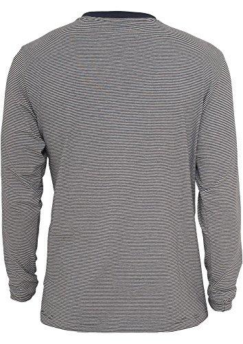 Urban Classics Herren Oberteile / Hoody Fine Stripe Button Jersey navy/wht-TB529