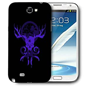 Snoogg Purple Skull Face Designer Protective Back Case Cover For SAMSUNG Galaxy Note 2 N7100
