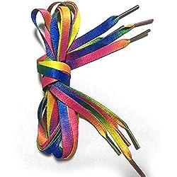 MINISU - Cordones Planos para Zapatos Multicolor