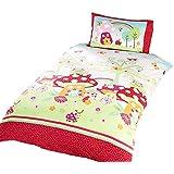 Enchanted Garden - Juego de fundas nórdico/edredón cama individual para niños. (Cama de 90/Multicolor)