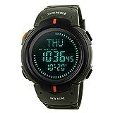 Amstt Herren Uhren Digital Sport Uhr Militär Kompass Armbanduhr Wasserdicht Armee-Grün