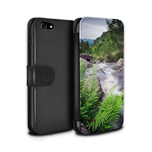 Stuff4® PU-Leder Hülle/Case/Tasche/Cover für Apple iPhone 7 / Strom Muster/Wasserfälle Kollektion