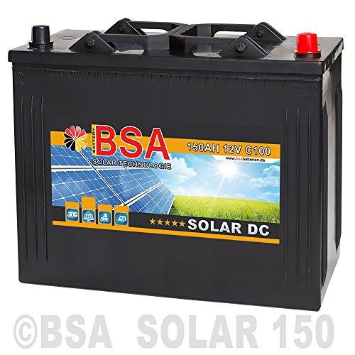 BSA Solarbatterie 12V 150Ah Wohnmobil Versorgungsbatterie Solar Boot Batterie 140AH 130Ah