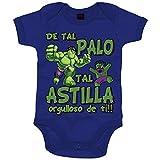 Body bebé Hulk de tal palo tal astilla orgulloso de ti - Azul Royal, 12-18 meses
