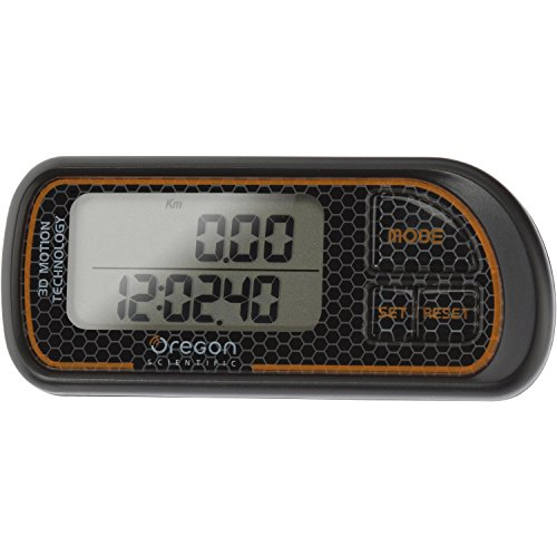 Oregon Scientific pe208 Electronic Black, Orange Pedometer - pedometers (LCD, CR1620, Black, Orange)