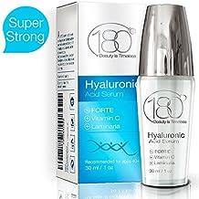 OFERTAS DEL DÍA - 180 Cosmetics EL MEJOR suero puro de ácido hialurónico extrafuerte (Hyaluronic Acid Serum Forte) + Vitamina C - La mayor concentración de ...