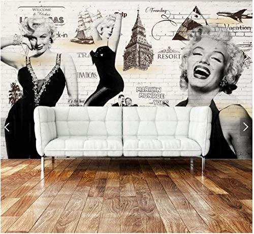 3D Tapete Wandbild Nostalgische Elizabeth Taylor Bar Hintergrundwand Der Weinlese Seidentuch 350x245cm -