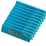 10x Rizla Bleu King size fin Ultra mince Cigarette gommé papier à rouler livre Livret