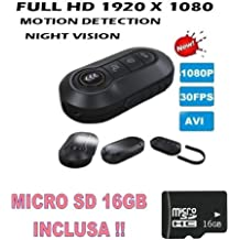 PORTACHIAVI SPIA VIDEO FINTO FULL HD 1920X1080P + MICRO SD 16GB TELECOMANDO PENNA SPY TELECAMERA VISIONE NOTTURNA NIGHT VISION