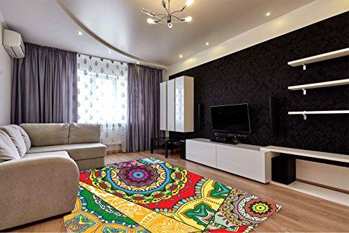 Alfombra salon abstracta PVC 100cm redonda|| Esterillo PVC|Suelo vinilico para habitaciones| abstracta