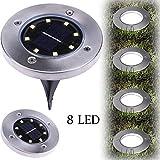 Wokee Solarbetriebene LED-Sonnenenergie-begrabenes Helles Boden-Lampen-im Freienweg-Weisen-Garten-Decking Bodeneinbauleuchte Außenleuchte LED