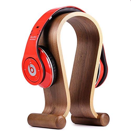 Urcover® Kopfhörerhalter Headset Halterung Echt Holz Halter aus Bambus für normale Kopfhörer & Gaming-Headset Ständer für sicheren Halt Universal Aufhänger für Senneheiser, Sony, Beats, Bose Kopfhörer uvm.