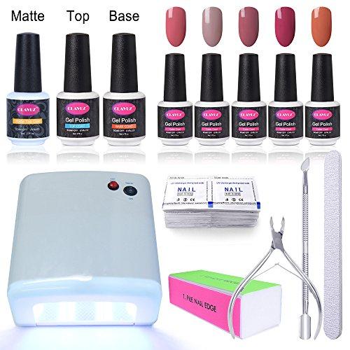 gel-nail-starter-kit-clavuz-gel-nail-polish-5pcs-top-and-base-coat-set-36w-uv-nail-lamp-nail-remover