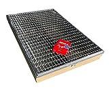 Bodenwanne mit Stahlzarge 100 x 50 cm mit einliegendem Rost und Schnurwasserwaage