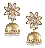 The Jewelbox Gold Plated Kundan Jhumki E...