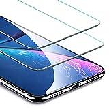 ESR Protector de Pantalla para iPhone 11/iPhone XR, Marco de Instalación Fácil, Compatible con Carcasa, Protector de Pantalla Cristal Templado Premium para iPhone de 6,1' (2019). 2 Unidades.