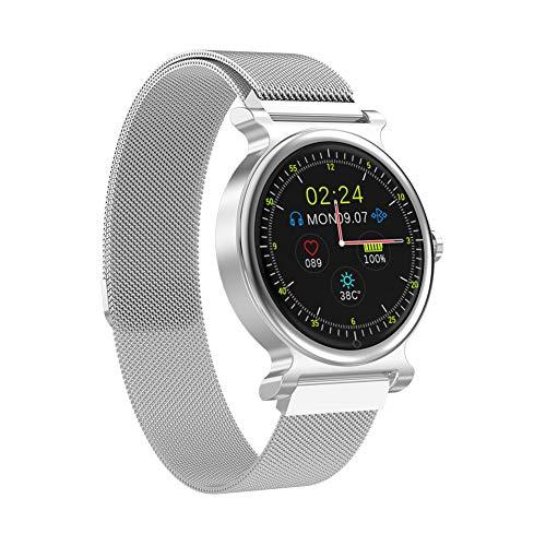 XYZNSH Intelligente Uhr, 1,3-Zoll-Rundbildschirm, Bluetooth-Anruf, IP67-Wasserdicht, Intelligenter AI-Sprachassistent, Blutdruck-Blutsauerstoff-Überwachung,G