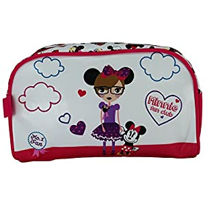 Disney Minnie Fan Club Caso Make Up Bag Bolsos Neceser Vanity Pochette