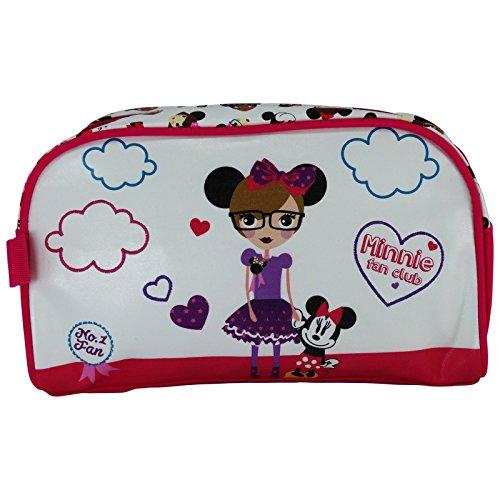 Disney Minnie Fan Club Caso Make Up Bag Bolsos Neceser Vanity Pochette