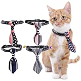 Smoro 2PCS Haustier Katze Hundehalsbänder Krawatte Hochzeit Zubehör Hunde Bowtie Kragen Urlaub Dekoration Weihnachten Grooming Pet Krawatten Farbe Zufällig