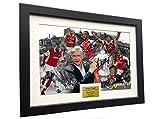 Kicks Arsène Wenger Celebration 12x 8A4Signée Arsenal–Thierry Henry- Patrick Vieira- Dennis Bergkamp- Ian Wright–Theo Walcott–autographe Photo photo Cadre photo Soccer Cadeau